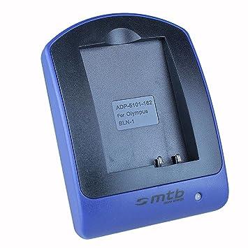 Cargador (Micro-USB, sin cables/adaptadores) para BLN-1 / Olympus PEN E-P5 / OM-D E-M1, E-M5, EM-5 Mark II / PEN-F