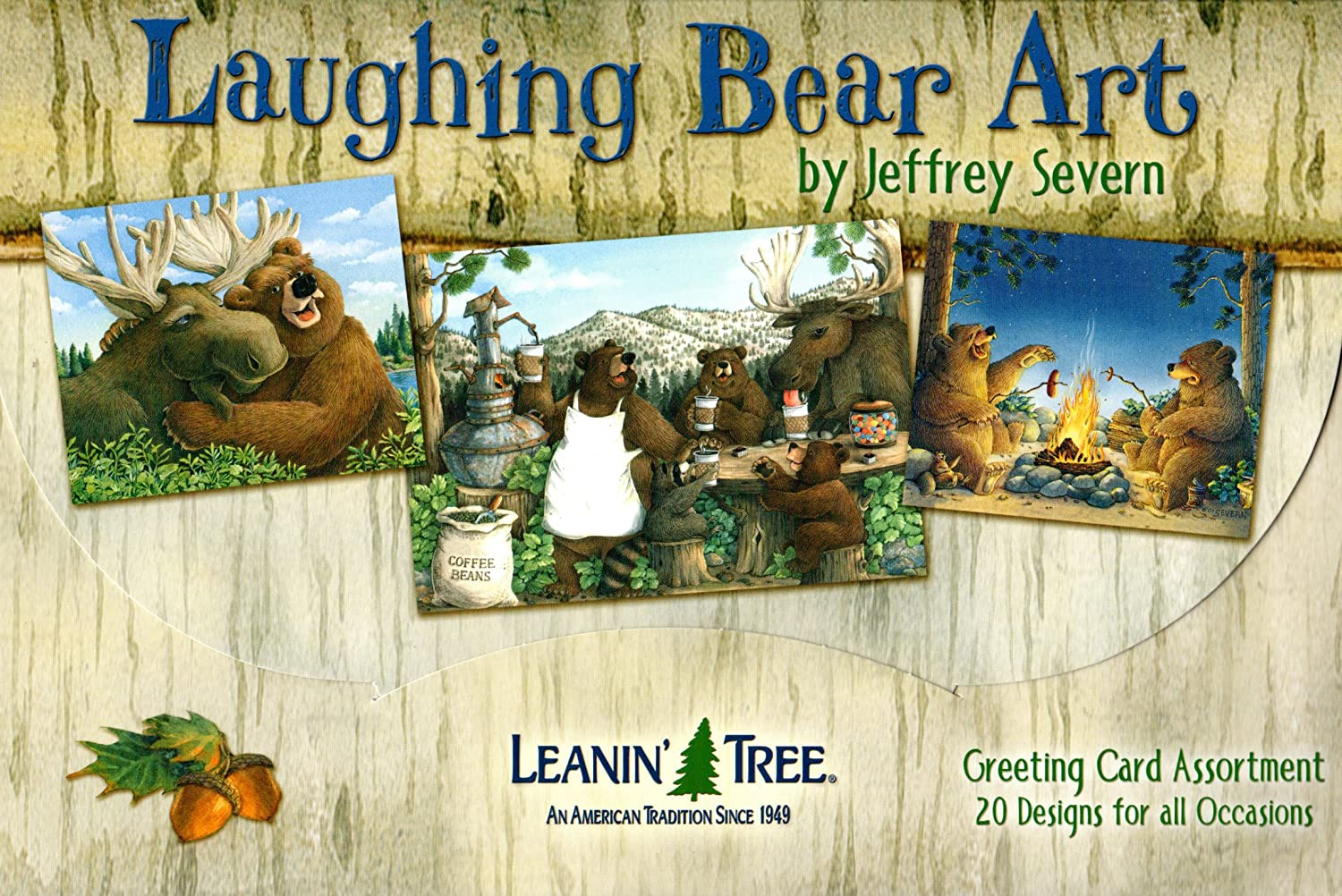 Amazon.com : Leanin\' Tree Funny Greeting Cards - Laughing Bear Art ...