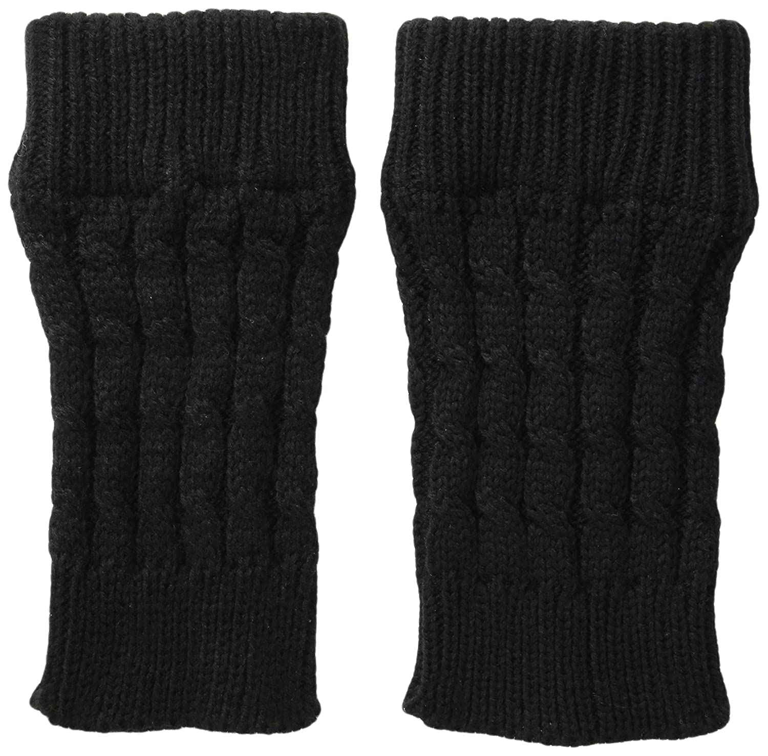 K. Bell Women's Cable Boot Cuff Black 9-11 kswf15w174-01