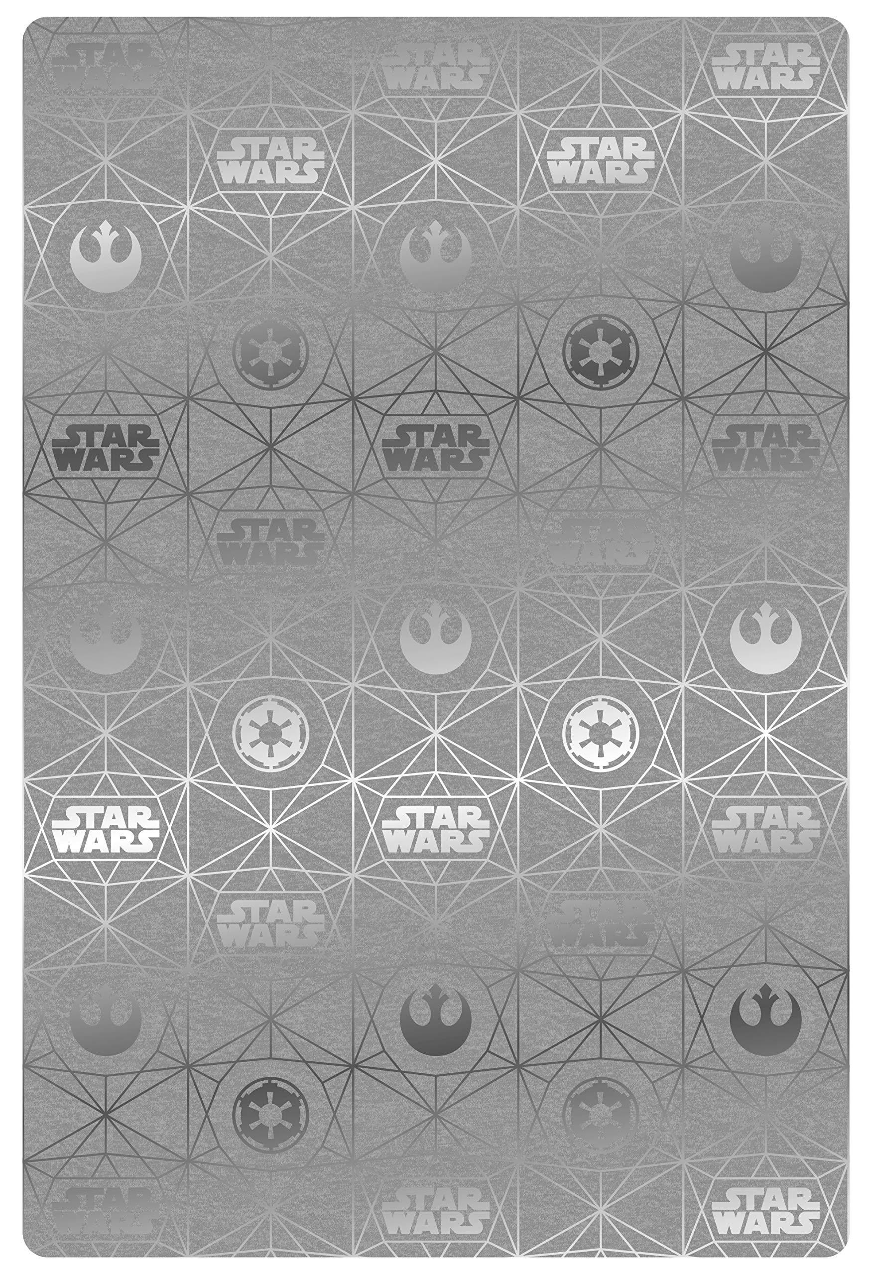 Jay Franco Star Wars Throw Blanket, Gray