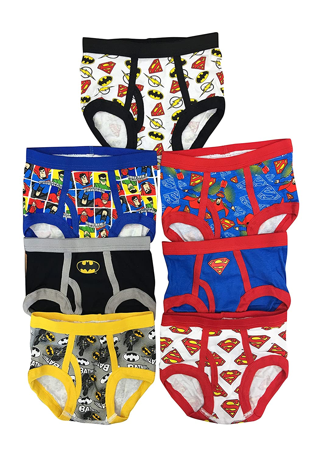Handcraft Little Boys DC Superfirends Justice League Logo Brief Pack of 7