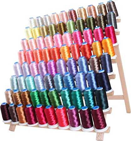 For Brother Babylock Janome Singer Pfaff Husqvarna Bernina Machines 1000M Spools 40wt Threadart 40 Spool Polyester Embroidery Machine Thread Set Jewel Colors 4 Sets Available