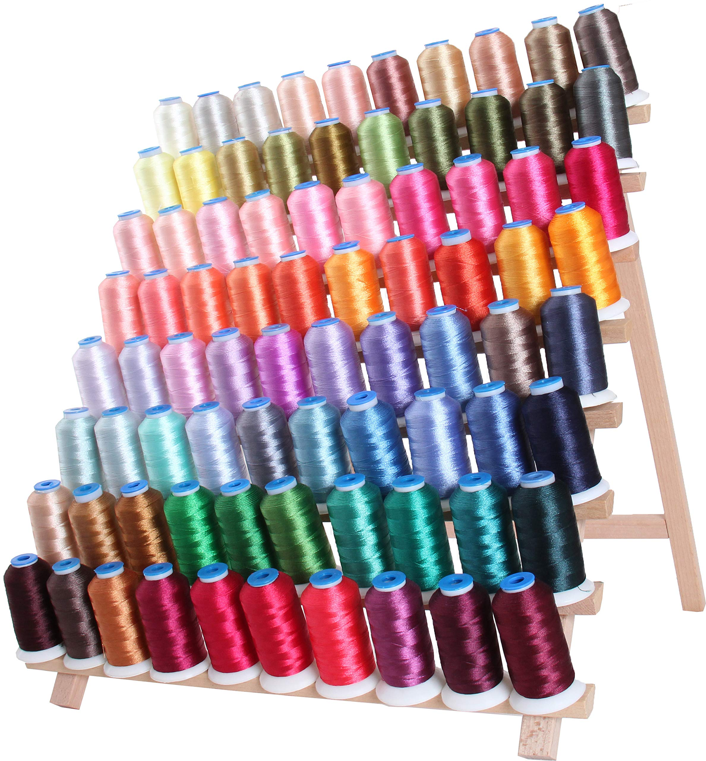 Threadart 80 Spool Polyester Embroidery Machine Thread Sets C&D | 1000M Spools 40wt | For Brother Babylock Janome Singer Pfaff Husqvarna Bernina Machines - 2 Sets Available by Threadart