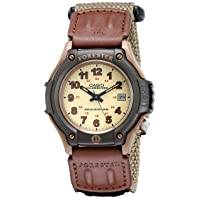 Men's Sport Watch Quartz Nylon Strap, Beige, 20 (Model: FT500WC-5BVCF)