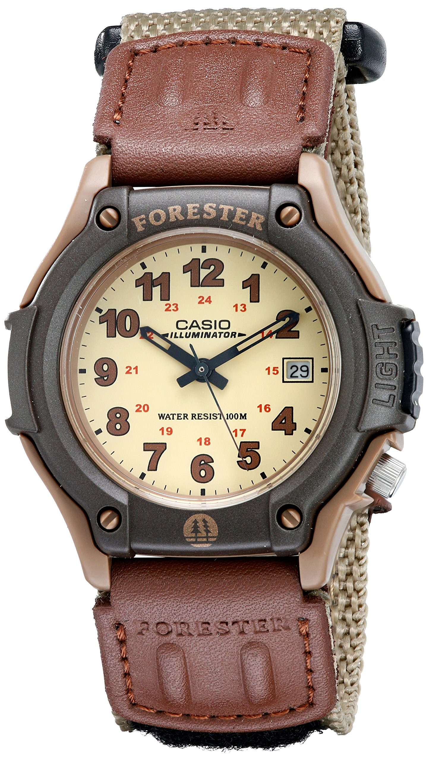Casio Men's Sport Watch Quartz Nylon Strap, Beige, 20 (Model: FT500WC-5BVCF)