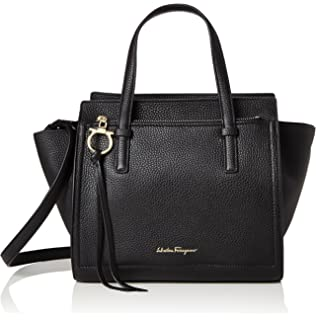 Amazon.com  Salvatore Ferragamo Women s 21H019 City Tote Lipstick ... bcde4139d3