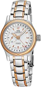 Oris Big Crown Comandante Chronometer Womens Two-Tone Automatic Watch - 33mm Analog Silver Face with Date Second Hand Sapphire Crystal - Swiss Made Stainless Steel Rose Gold Ladies Watch 641 7487 6361