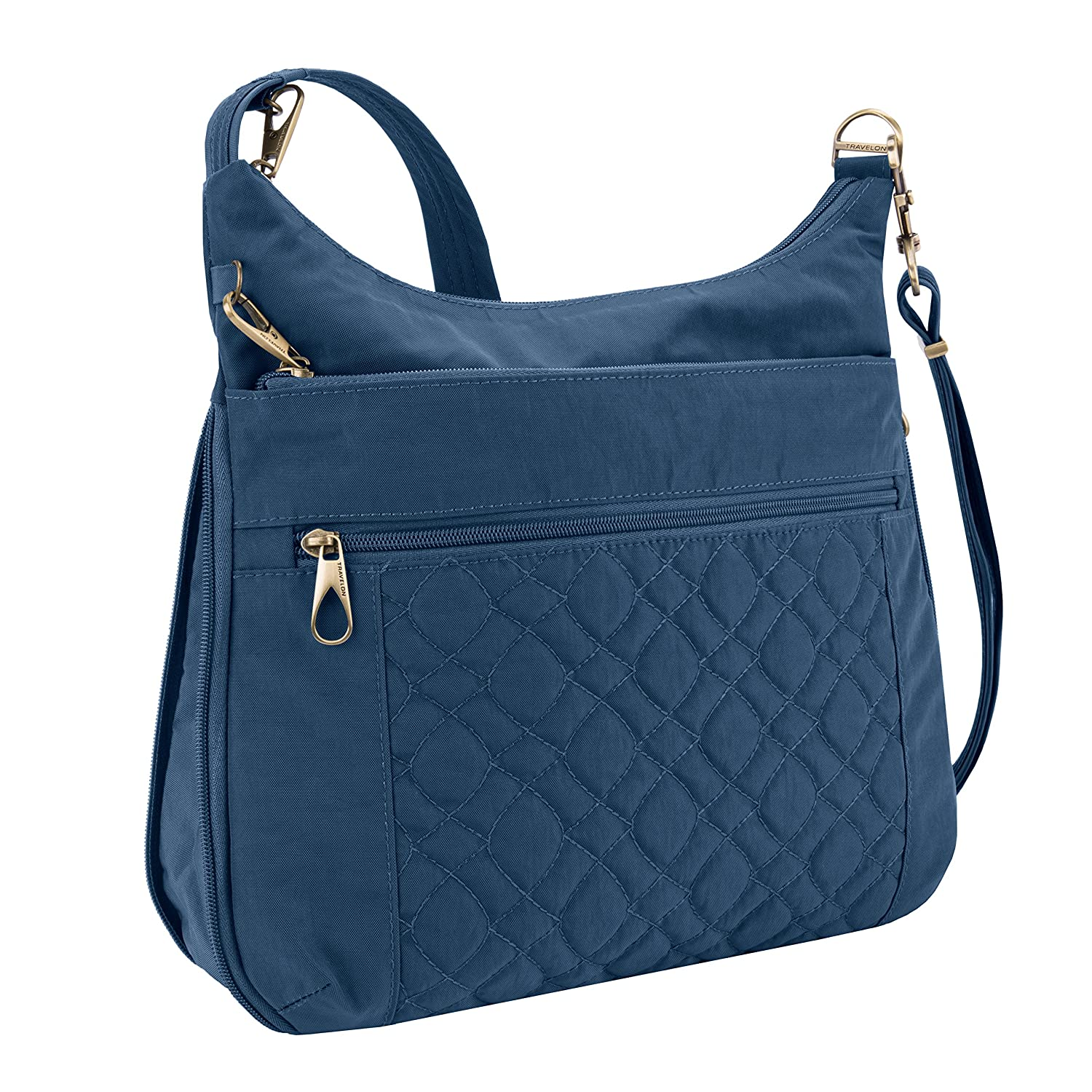 6964c0f382df Amazon.com  Travelon Anti-theft Signature Quilted Expansion Cross Body Bag