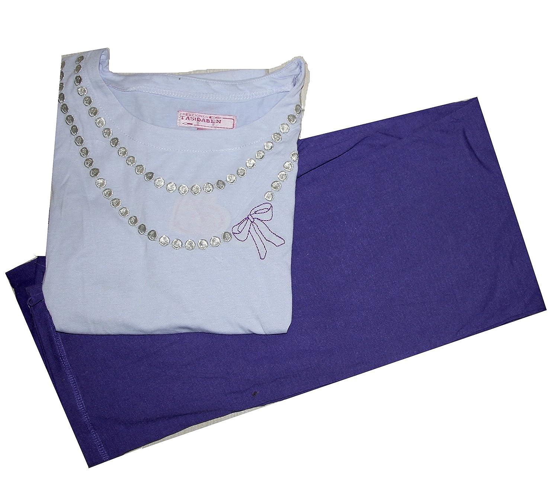 Tasidaben Big and Little Girl 2 Piece Pajama Pant Set Size 2-14 Years