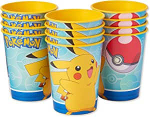 American Greetings Pokemon Plastic Cups for Kids (12-Count)