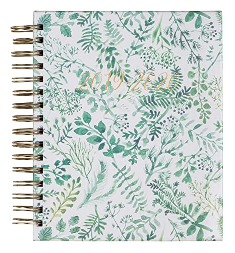 2019-2020 Eccolo Spiral Agenda Planner, Botanical, Hardcover, Weekly & Monthly Views, 18 Months, Sticker Sheets, Full Color Graphics and Quotes. 7.25 ...