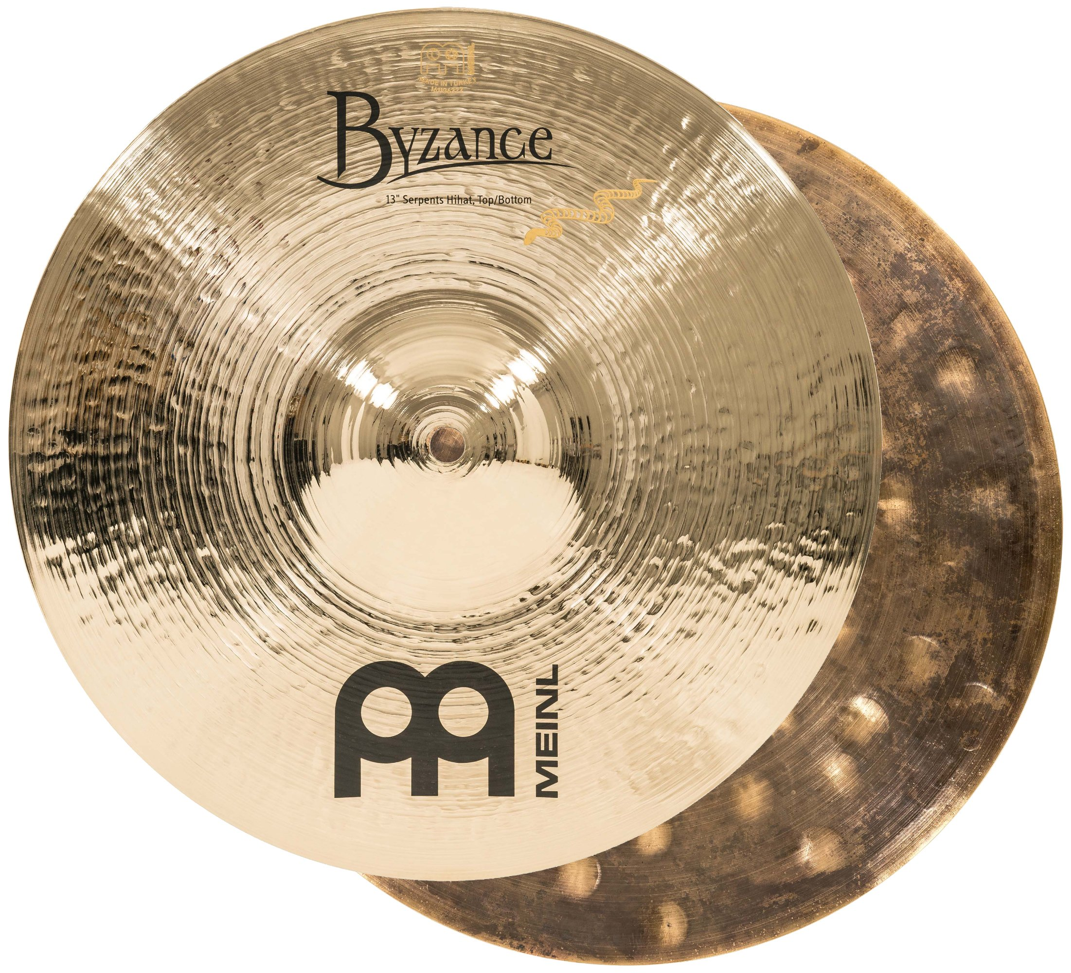 Meinl Cymbals B13SH-B Byzance 13-Inch Brilliant Serpents Hi-Hat Cymbal Pair (VIDEO) by Meinl Cymbals