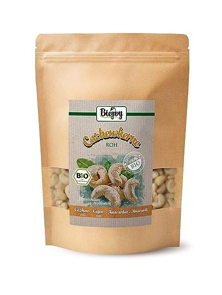 Biojoy Anacardos crudos naturales BÍO | Anacardos organicos sin sal | sin conservantes y aromas artificiales añadidos | ecologicos y no procesados | ...