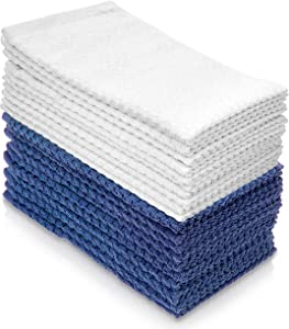 Simpli-Magic Kitchen Dish Towels, European Popcorn Design, 10 Pack, Size: 16