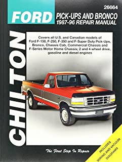 chilton s ford pick ups and bronco 1987 96 repair manual chilton s rh amazon com 1987 Ford F-250 1999 Ford F-150
