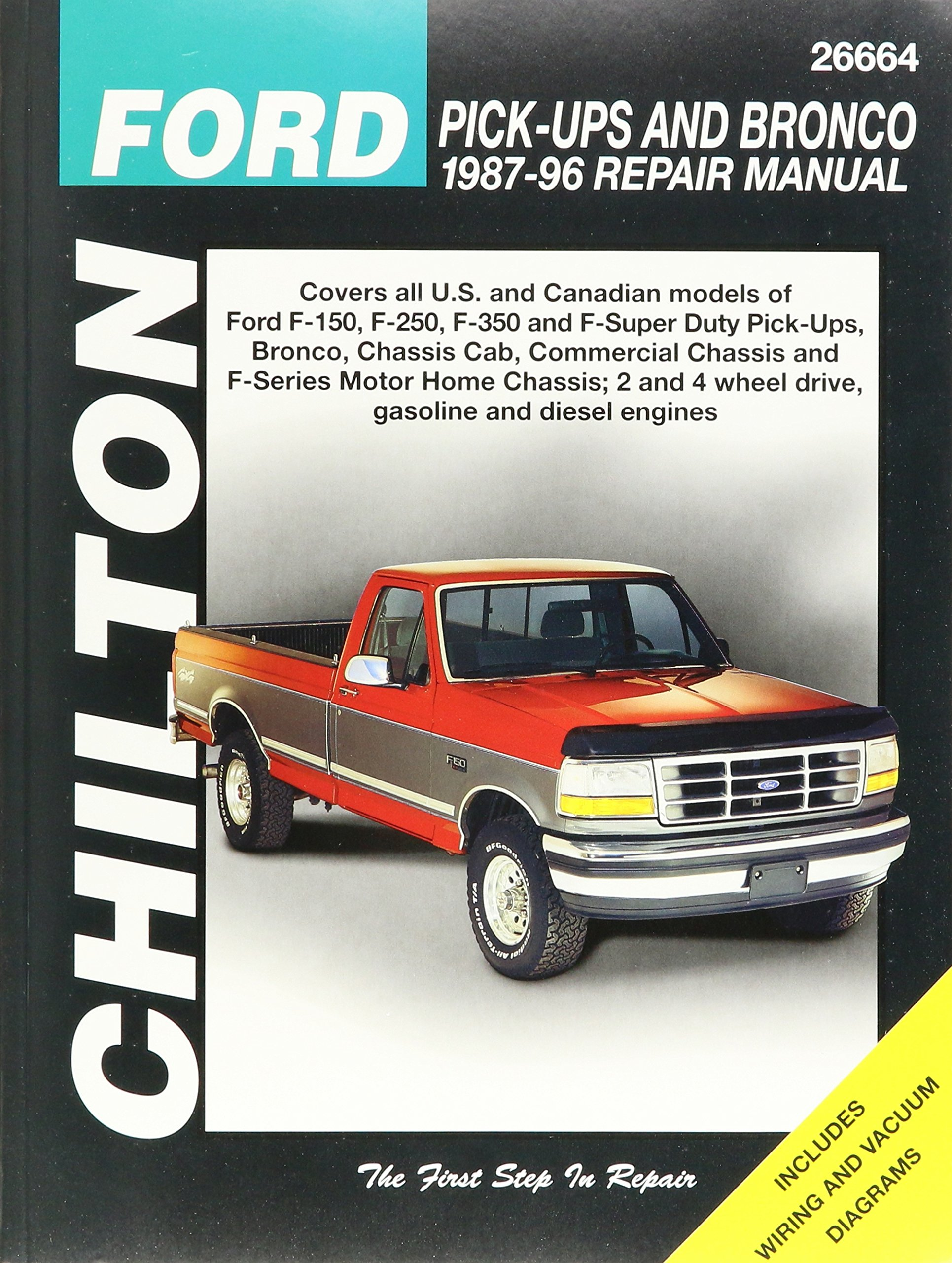 Chilton Total Car Care Ford Pick-Ups & Bronco, 87-96 (26664): Manufacturer:  0035650813687: Amazon.com: Books