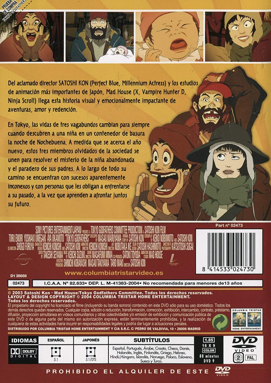 Tokyo Godfathers [DVD]: Amazon.es: Varios, Satoshi Kon: Cine ...