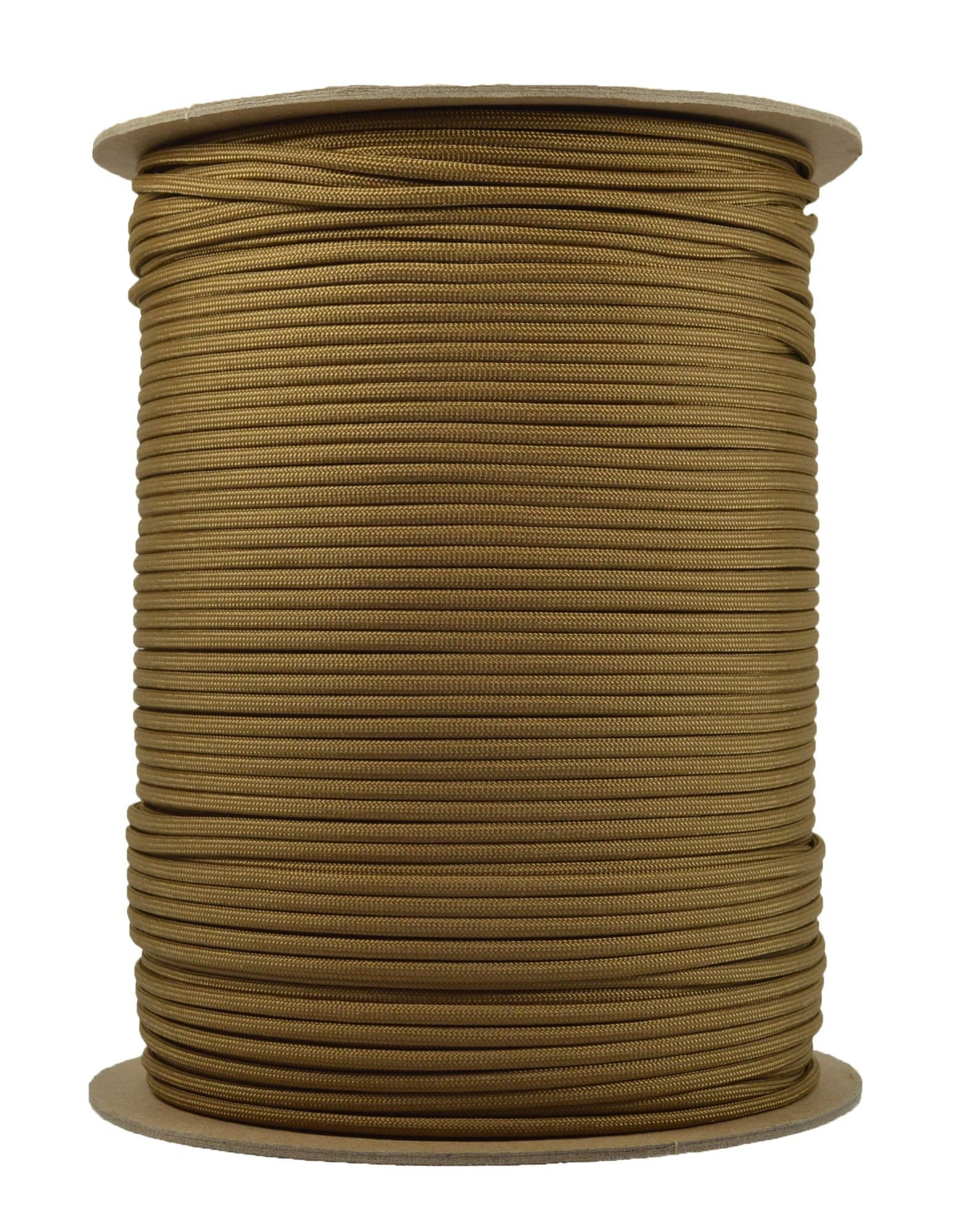 BoredParacord Brand Paracord (1000 ft. Spool) - Coyote Brown