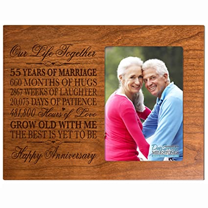 Amazon 55th Year Wedding Anniversary Gift For Couple Custom