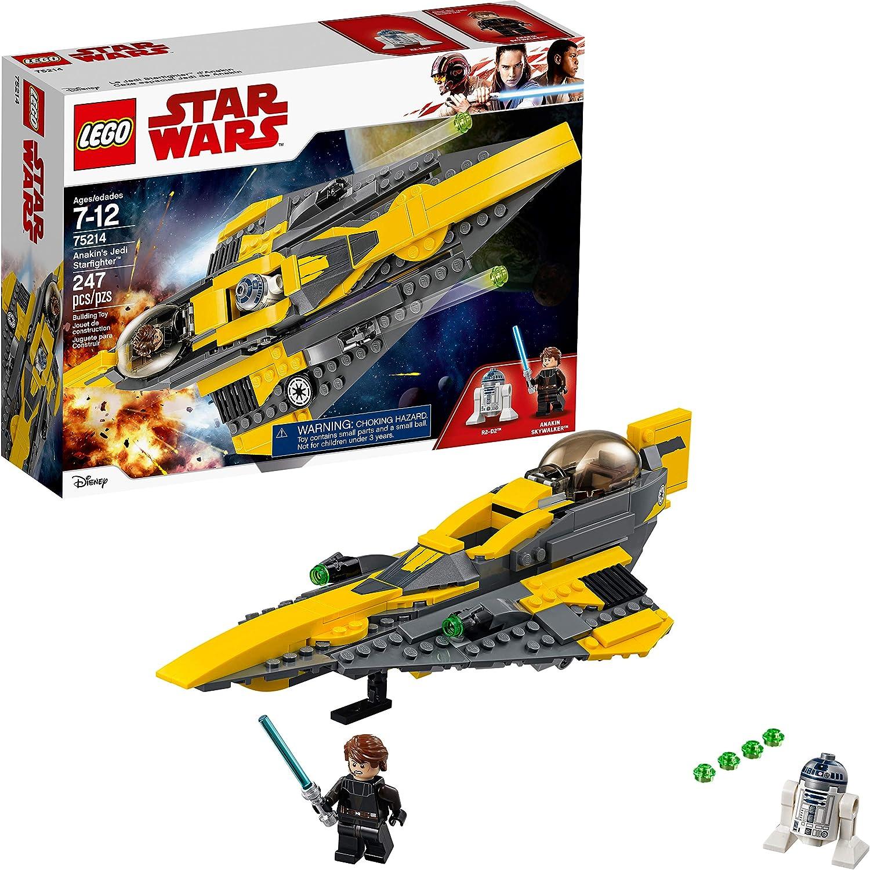 Amazon Com Lego Star Wars The Clone Wars Anakin S Jedi Starfighter 75214 Building Kit 247 Pieces Toys Games