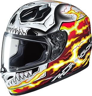HJC FG-17 Marvel Ghost Rider Helmet Red (MC-1) (White