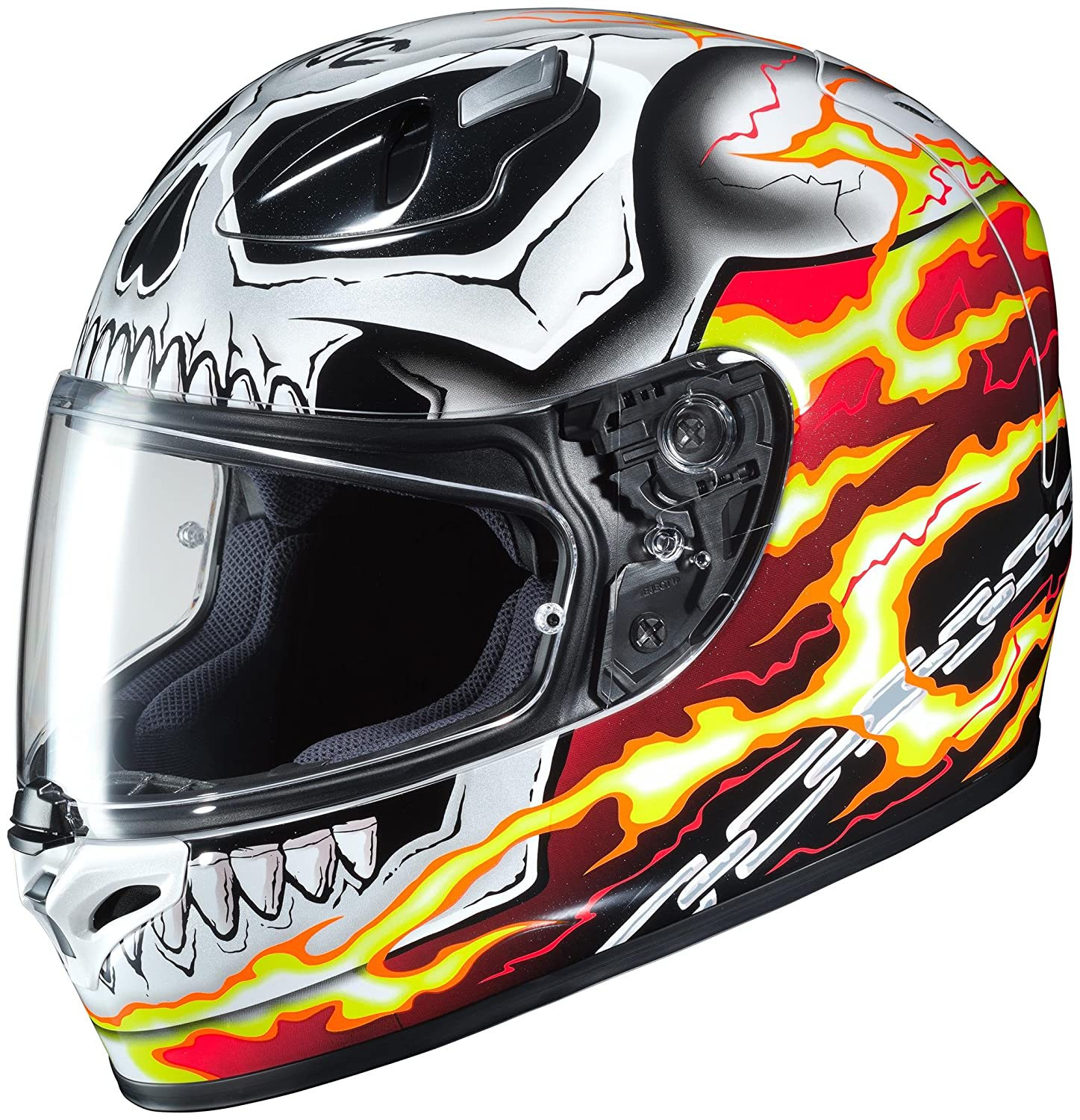 HJC FG-17 Marvel Ghost Rider Helmet Red (MC-1) (White, Medium)