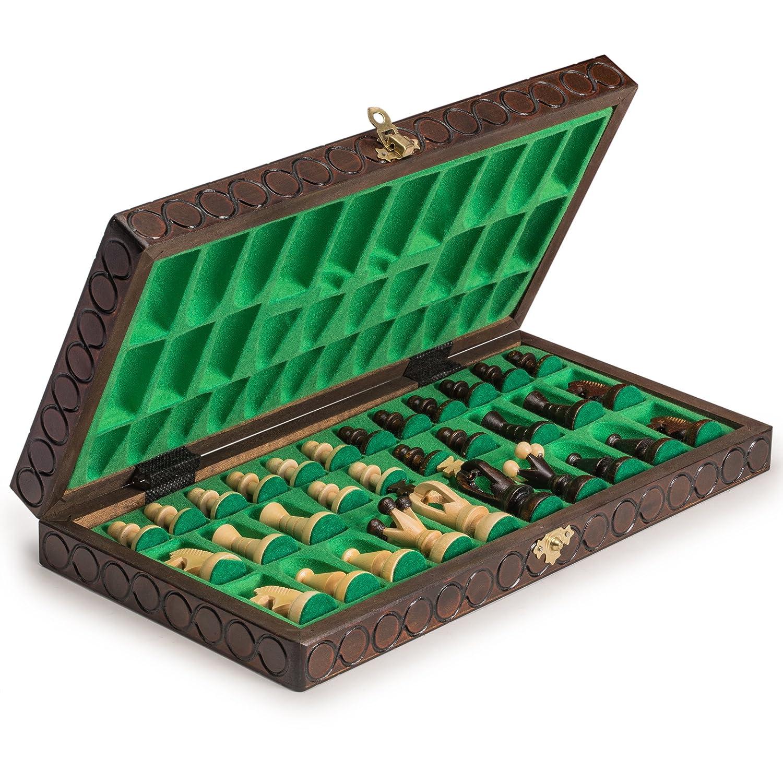 "King/'s European International Chess Wooden Wood Game Set 14.2/"""