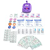 Owie! 50 Essentials Travel and Baby First Aid Kit - Mini Compact Kit - Mom First Aid Kit for Purse or Diaper Bag - Emergency Kit for Kids Car Home Outdoor Camping