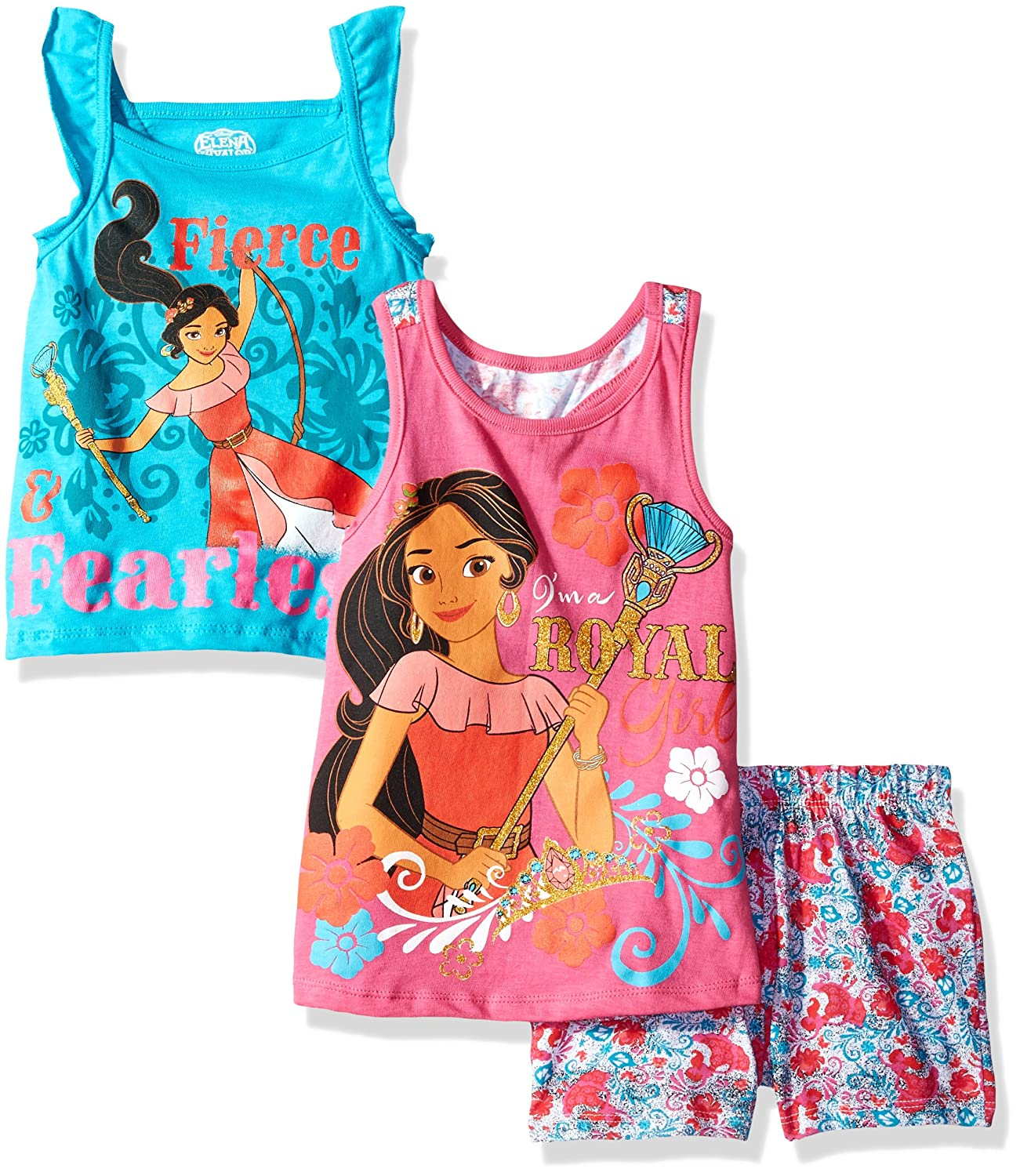 Disney Girls' 3 Piece Elena of Avalor Short Set 6je7719-P