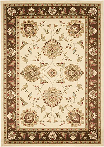 Safavieh Lyndhurst Collection LNH555-1225 Traditional Oriental Ivory and Brown Area Rug 8 x 11