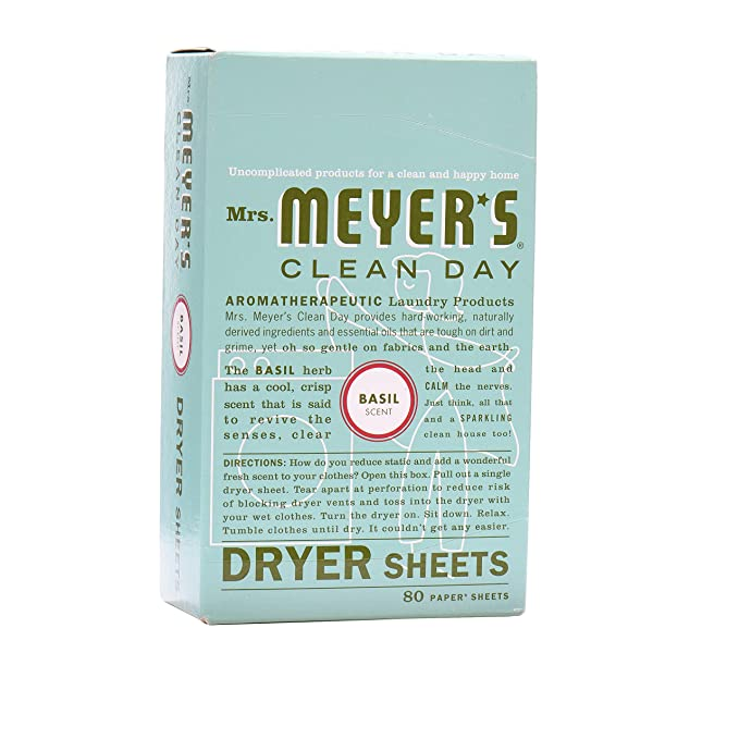 Amazon.com: Mrs. Meyers Clean Day Dryer Sheets, Basil: Health ...