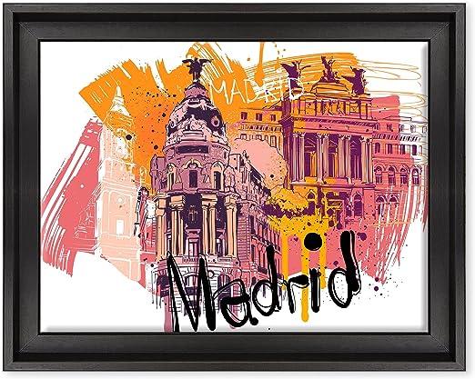 Cuadro sobre lienzo Canvas – ConKrea – Listo para colgar – Madrid ...