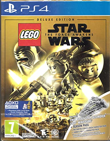 Lego Star Wars The Force Awakens Deluxe Edition PS4 Game (Star Destroyer Mini Figure - UK Import): Amazon.es: Videojuegos