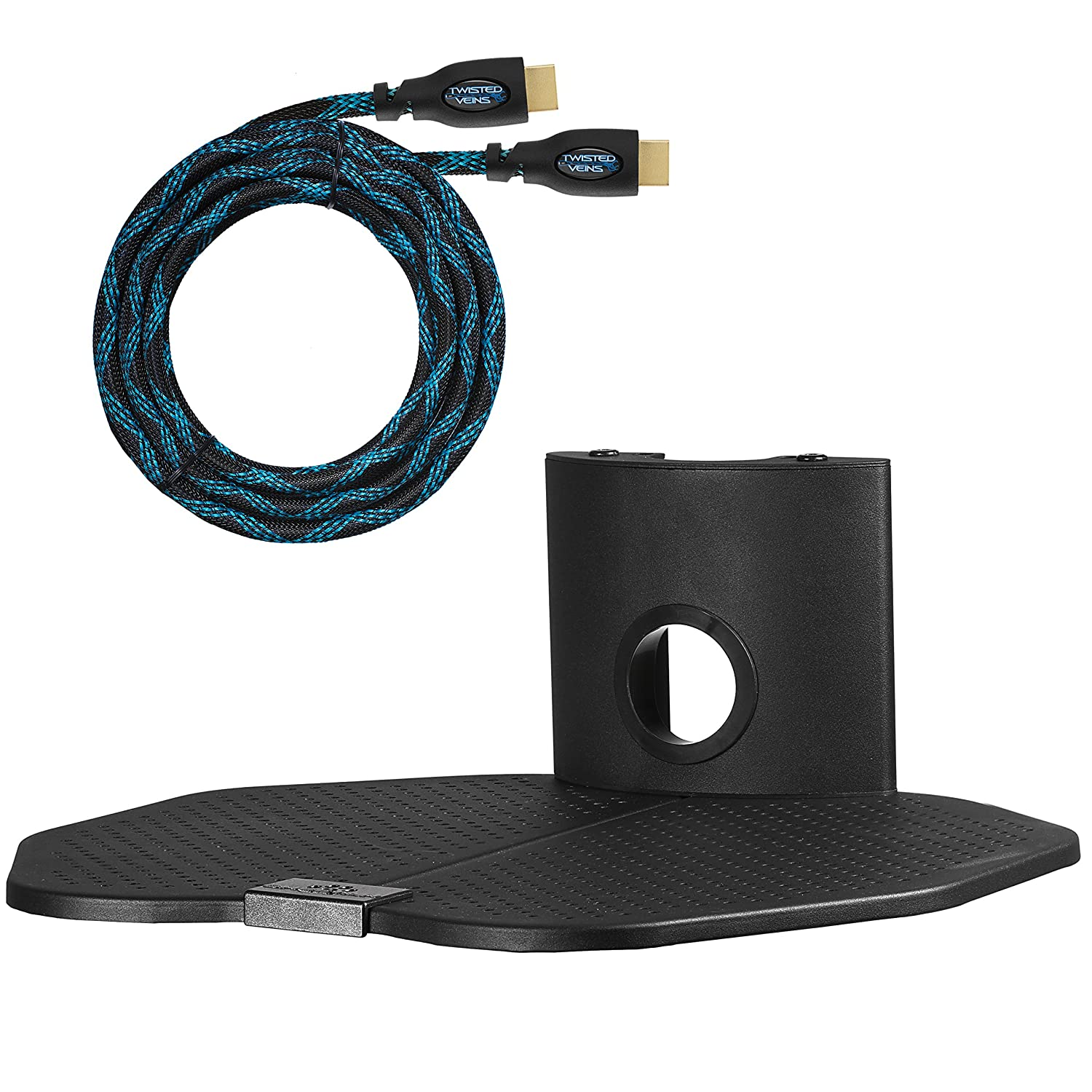 Amazon cheetah mounts as1b single shelf tv component wall amazon cheetah mounts as1b single shelf tv component wall mount 18x16 inch shelving bracket bundle with 15 feet hdmi cable home audio theater amipublicfo Gallery