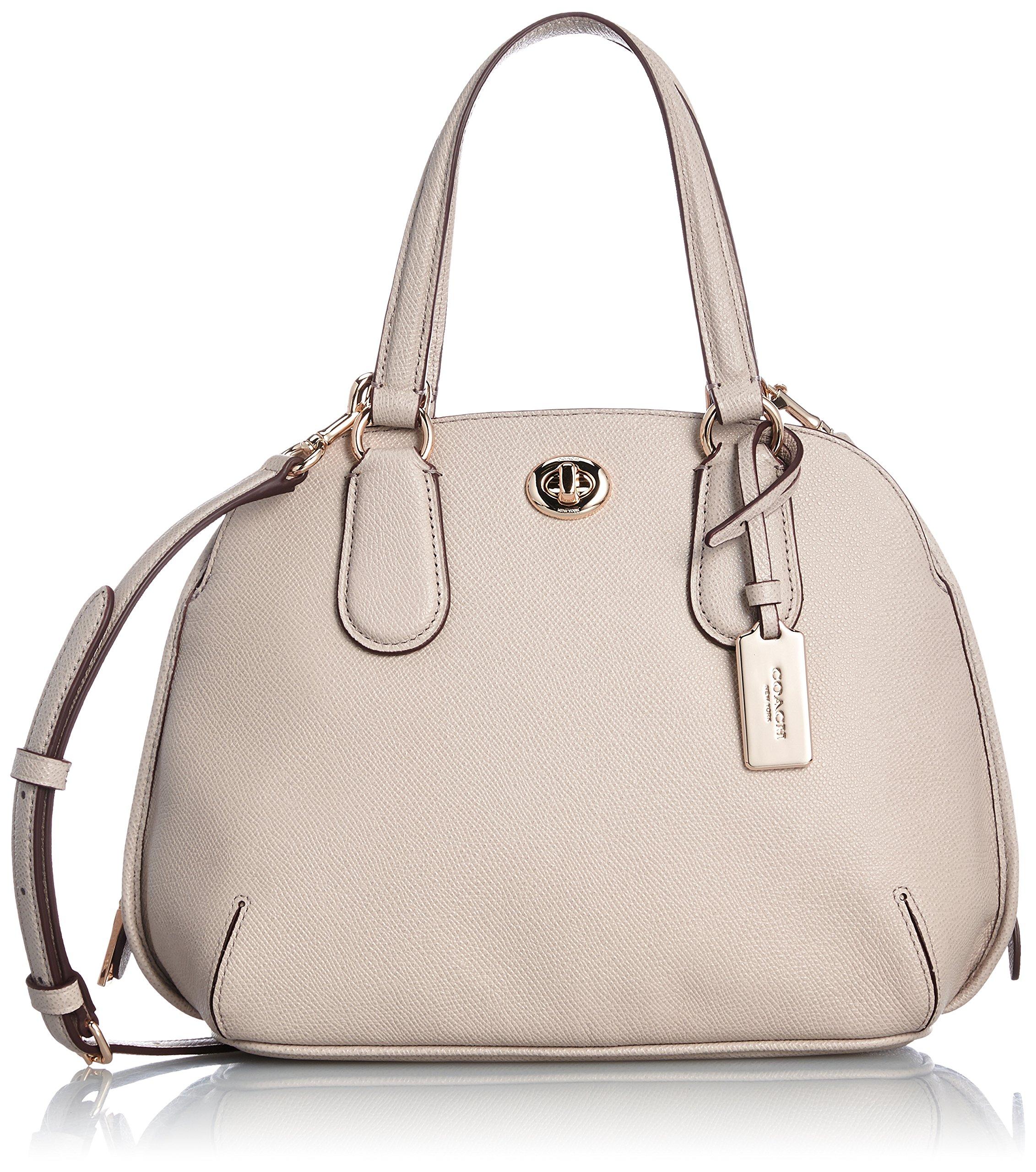 Coach Crossgrain Leather Prince Street Mini Satchel Handbag 34940 Grey Birch