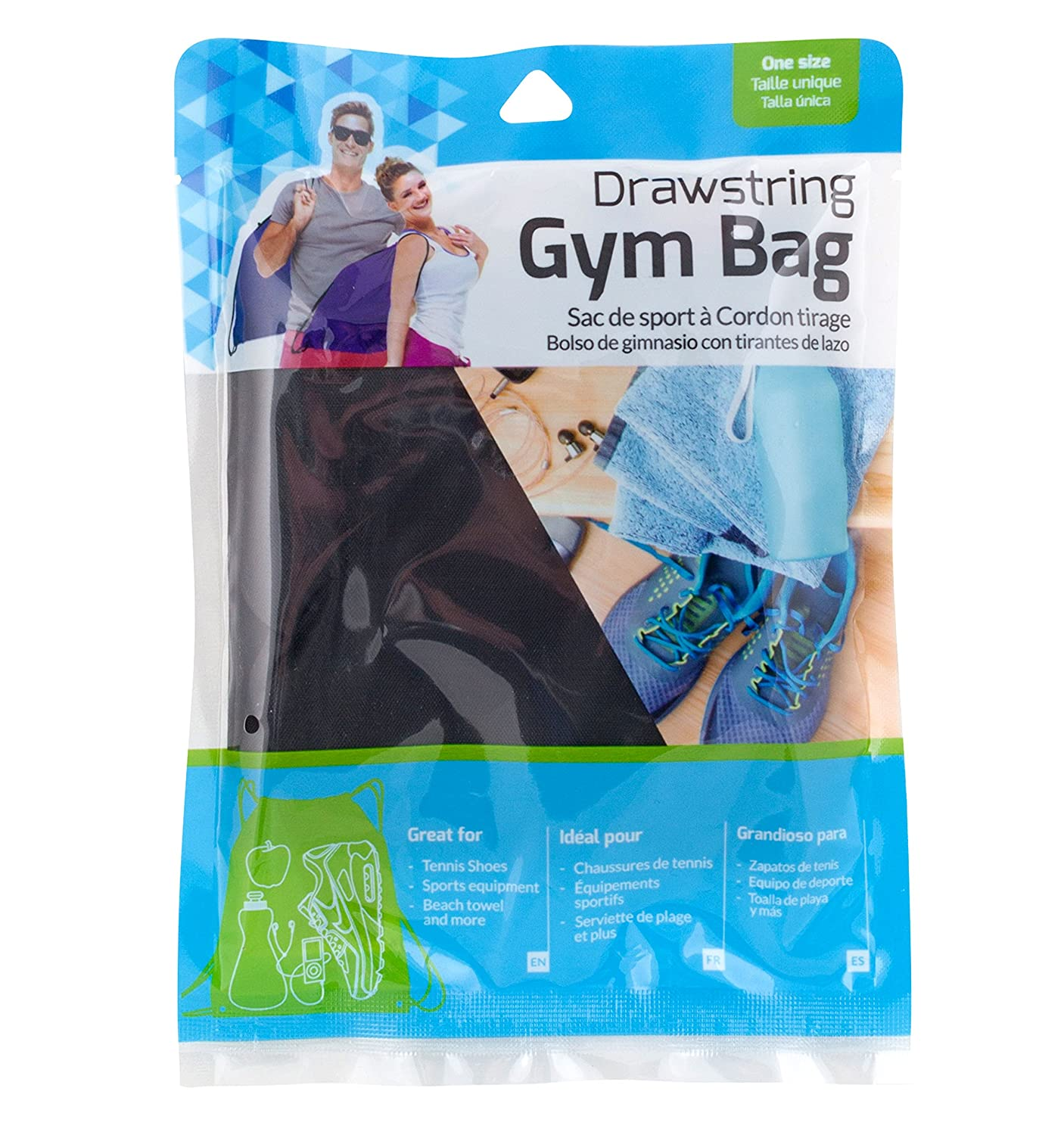 Amazon.com | Bright Concepts, Drawstring Gym Bag, Polyester 17.7