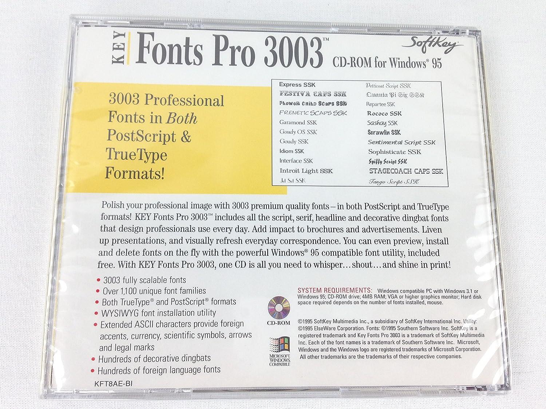 Amazon com: Key Fonts Pro 3003