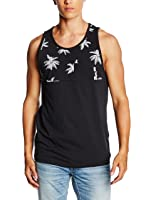 VANS Mens HILBY PALM TREE BLACK Tank Top