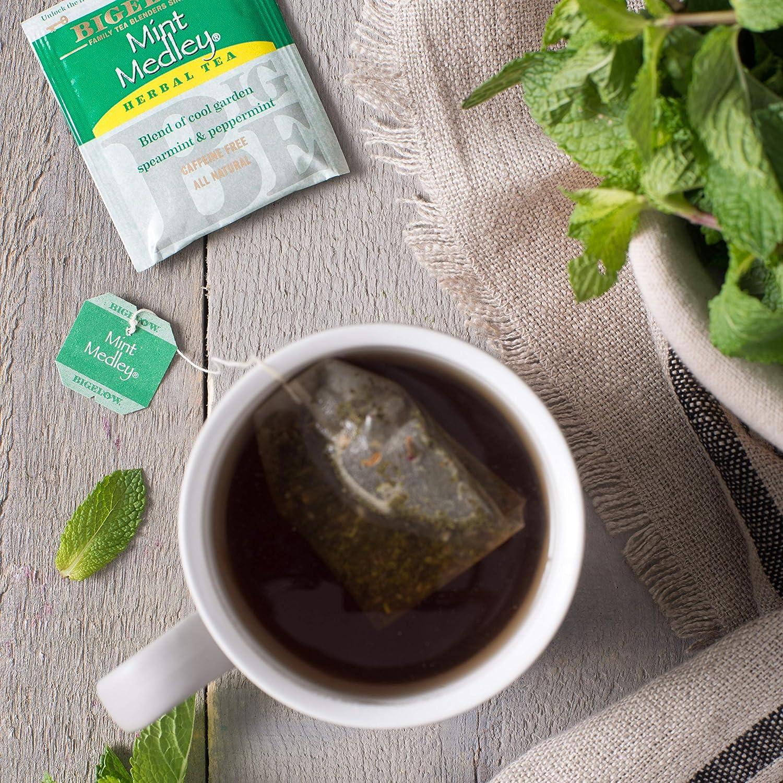 Bigelow Mint Medley Herbal Tea Bags 20-Count Boxes (Pack of 6), 120 Tea Bags Total. Caffeine-Free Individual Herbal Tisane Bags