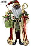 "36"" Inch Standing Grand African American Black Ethnic Santa Claus Christmas Figurine Figure Decoration 53603A"