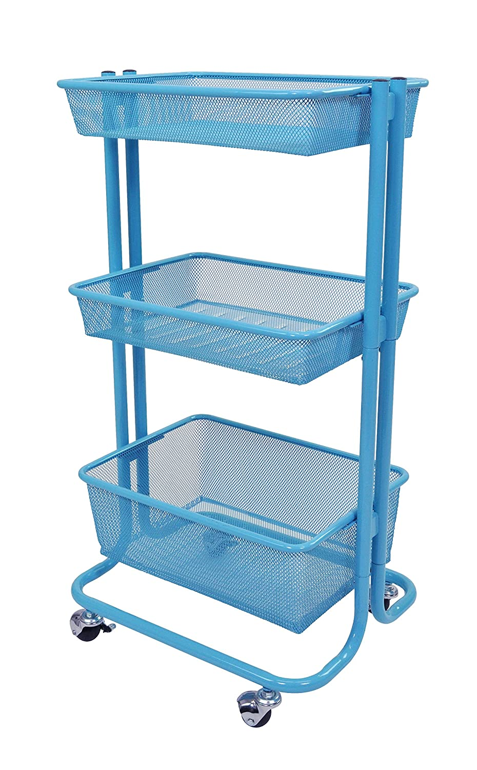 Amazon.com : Home Kitchen Bedroom Storage Utility Cart (Blue ...