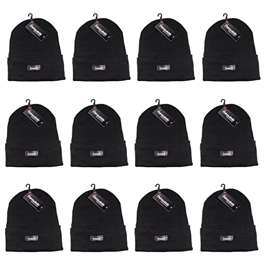 ba8b08bde51 Gelante 3M Thinsulate Women Men Knitted Thermal Winter Cap Casual Beanies-Wholesale  Lot 12 Packs