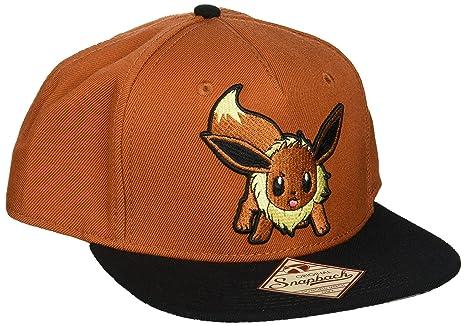 5db140046b6 Amazon.com  bioWorld Pokemon Eevee Brown Color Block Snapback ...
