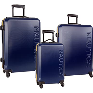 5f57cb0d725e Nautica 3 Piece Hardside Spinner Luggage Set