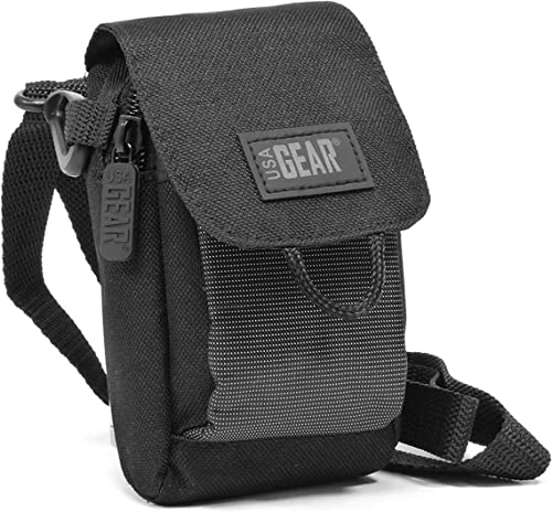 USA Gear Laser Rangefinder Case Holster with Shoulder Strap and Belt Loop – Compatible with Nikon 8397 ACULON AL11, TecTecTec VPRO500, 16228 Arrow ID 5000, Coolshot 20, Monarch 7I, and More