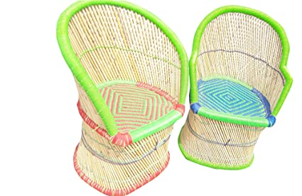 PatioStack Cane Handmade Outdoor Rattan & Wicker Sitting Chair Furniture Set for Garden / Terrace / Lawn / Balcony / Restaurant and Cafe [ 2 Chair, Size :18*18*34 ]