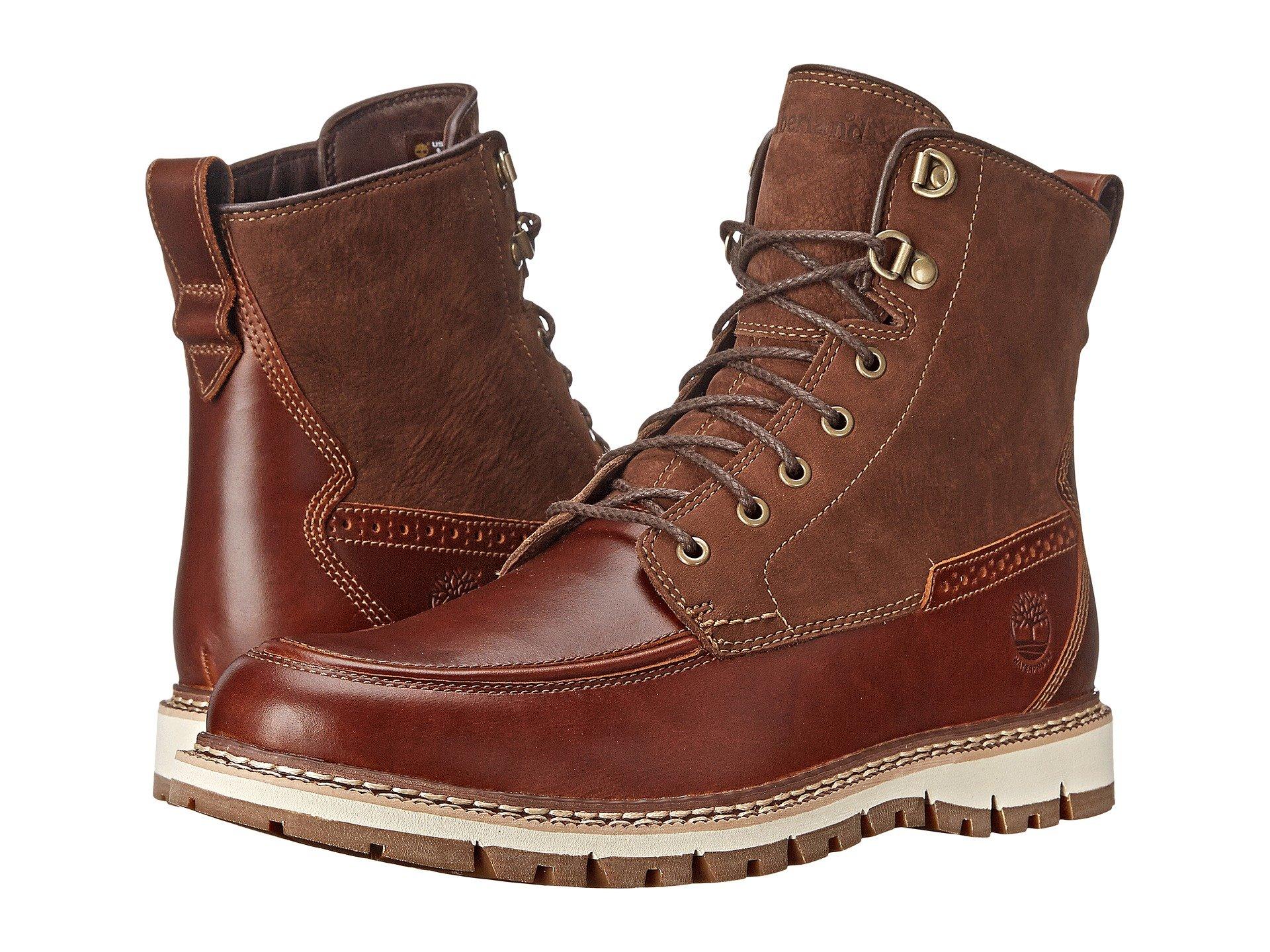 Timberland Men's Britton Hill Moc-Toe Waterproof Boot (7.5 D(M) US, Chestnut Quartz-Buttersoft)