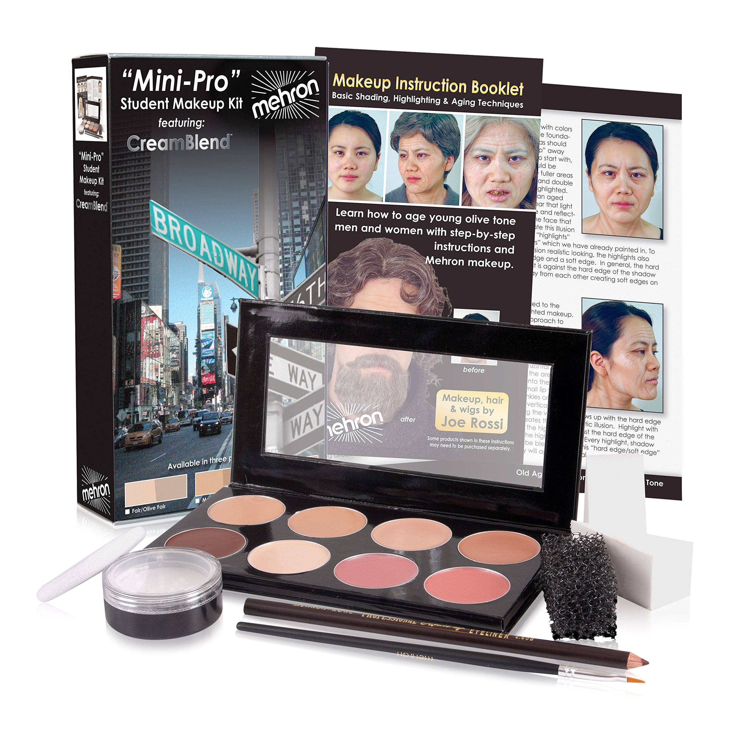 Mehron Mini-Pro Theatrical Kit Fair/Olive Fair Complexion