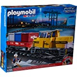 Playmobil - 5258 - Jeu de Construction - Train Porte-Conteneurs Radio-Commandé