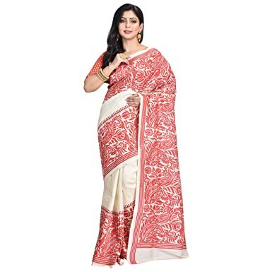 a9493483177 Ruprekha Fashion Off White Colour Pure Tussar Silk Hand Embroidered ...
